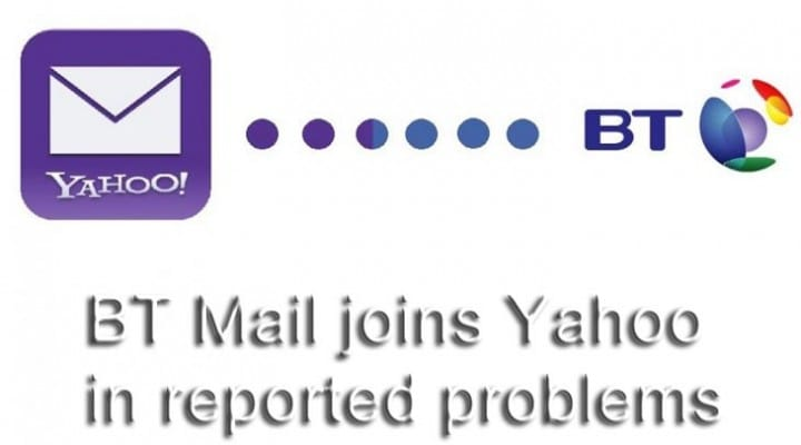 BT Mail joins Yahoo in reported problems