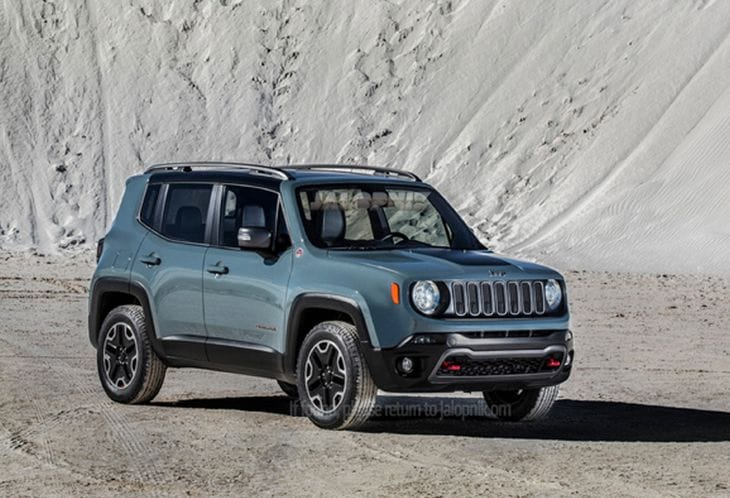 Baby Jeep Renegade leaked images surface 2