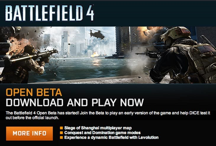 Battlefield 4 Open Beta download live on PC, Xbox 360, PS3