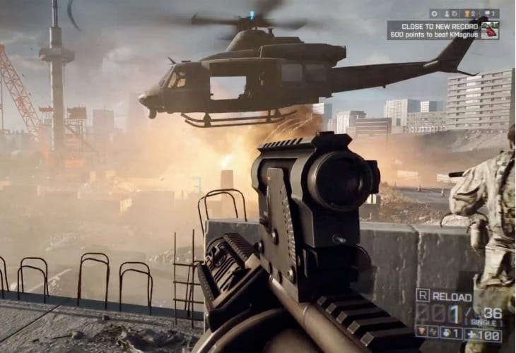 Battlefield 4 PS4 vs. PC gameplay footage