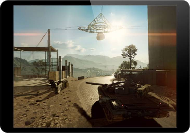 Battlefield 4 running on iPad Air, but no download