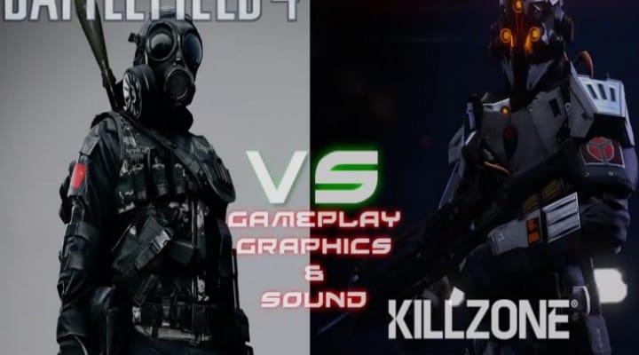 Killzone: Shadow Fall vs. Battlefield 4 PS4 graphics