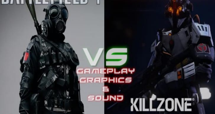 Killzone: Shadow Fall vs. Battlefield 4 PS4 graphics