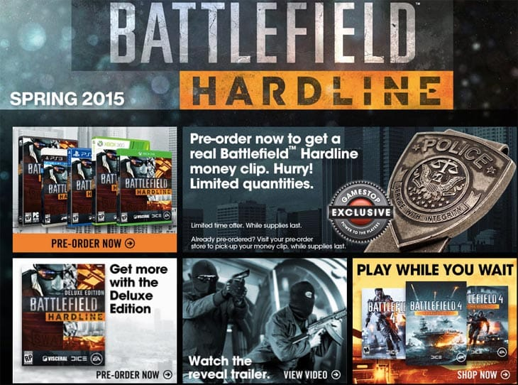 Battlefield Hardline' 2015 Release Date Announced: Visceral Games Pre ...