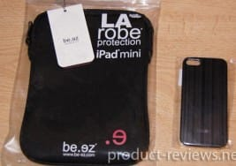 Be.ez iPhone 5 Allure case and iPad mini LA robe