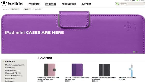 Belkin ready for iPad mini release date
