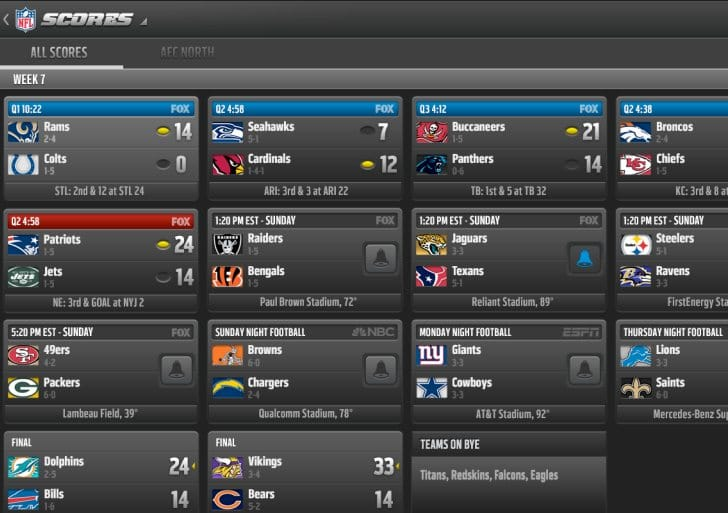 Best NFL apps for 2013