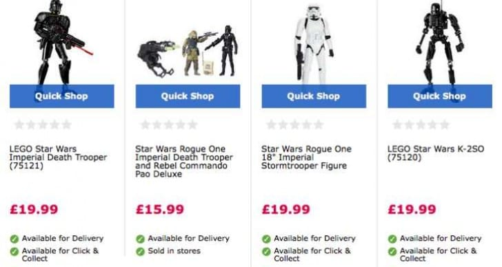 Best Star Wars Rogue One toys under £20 in the UK