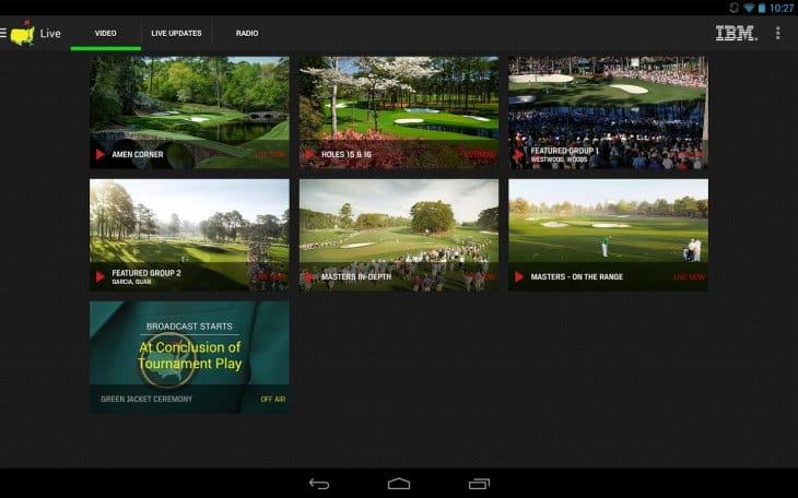 Best apps for The Masters live scores