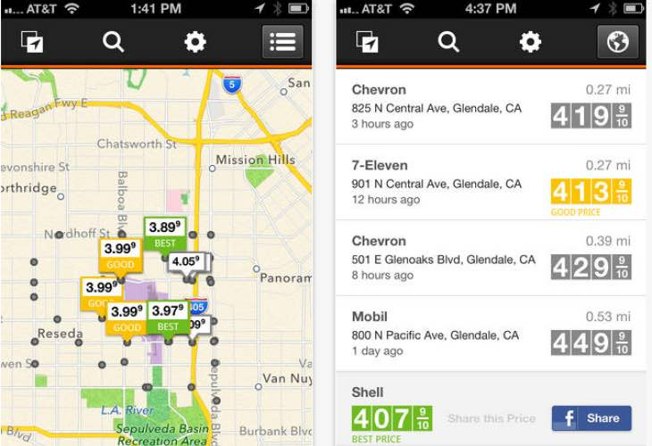 Best gasoline prices apps for USA in your area