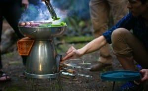 BioLite campstove Kickstarter for electricity from fire