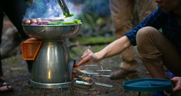 BioLite campstove Kickstarter for electricity from fire