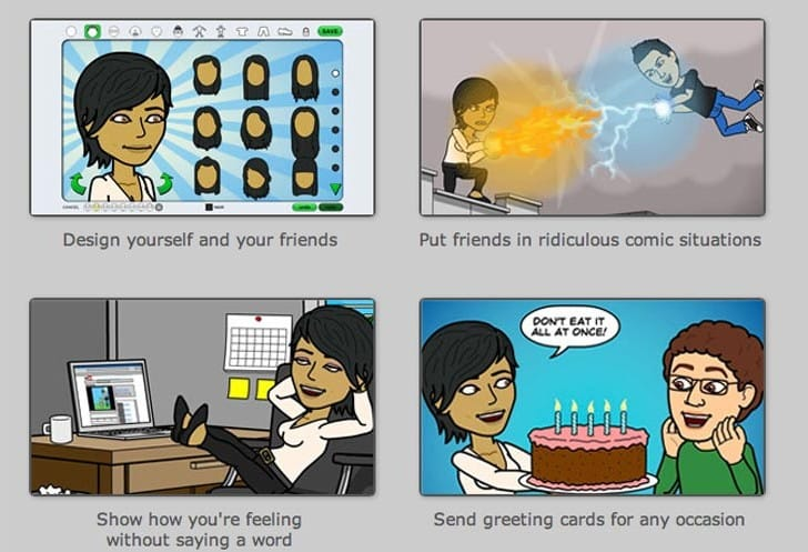 Bitstrips app for iPhone, Android and iPad liberated