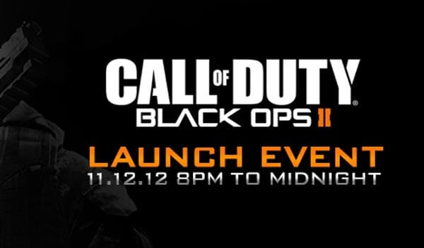 Black Ops 2 midnight launch locations for GameStop