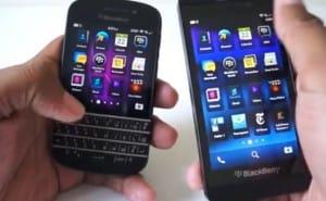BlackBerry Q10 vs. Z10 visual looks for best BB phone
