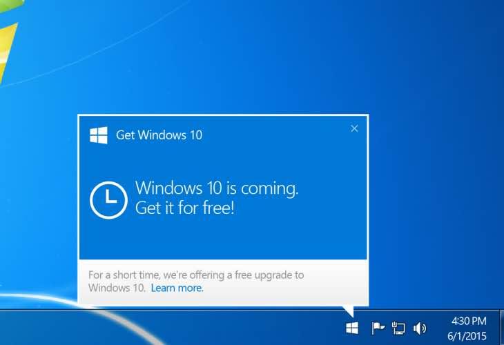 Blocking Windows 10 upgrade notifications