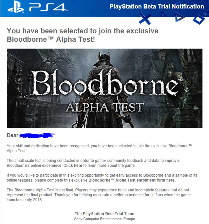Bloodborne-PS4-Alpha-test-email