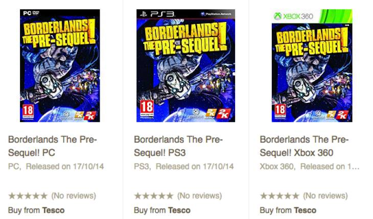 Borderlands- The Pre-Sequel price at Tesco