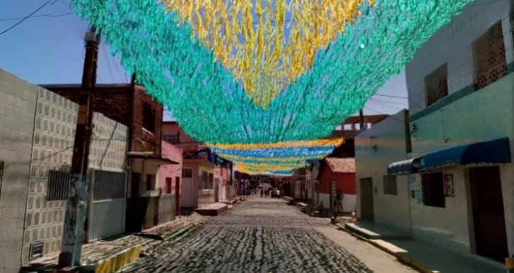 Brazil 2014 World Cup countdown with Painted Streets