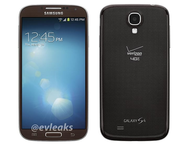 Samsung Galaxy S4 in brown for Verizon