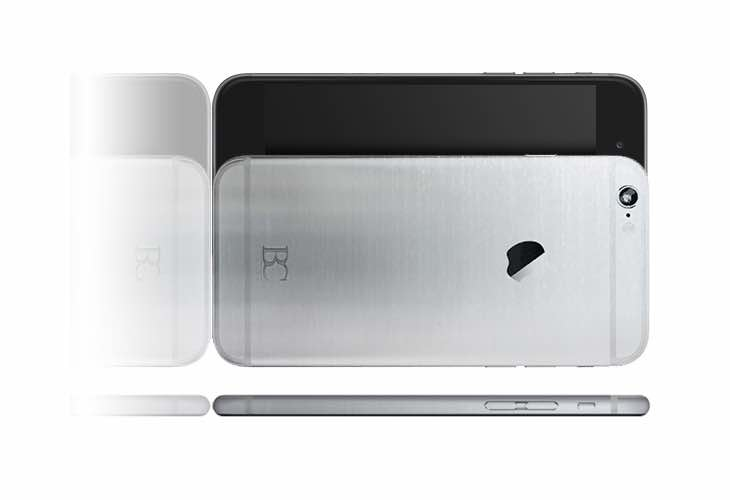 Brushed platinum iPhone