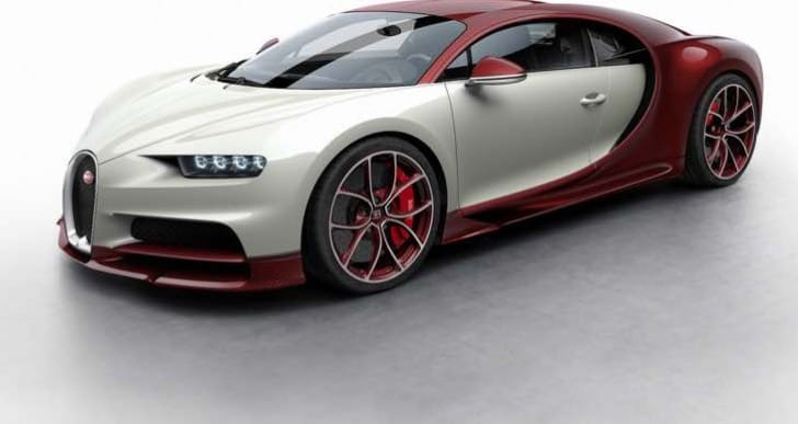 Bugatti Chiron color options are limited