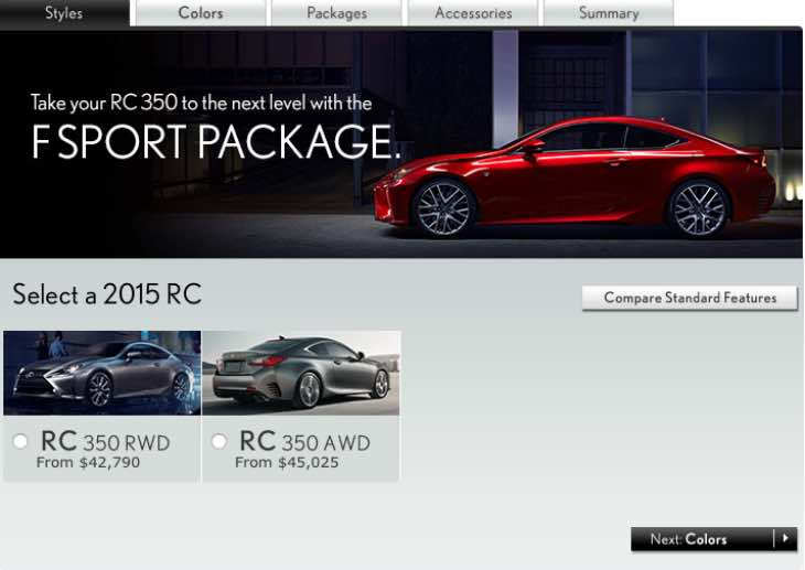 Build your own Lexus RC