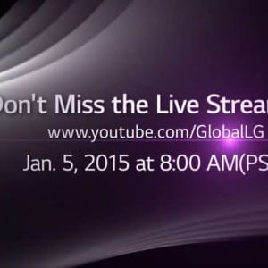 CES 2015 live LG video stream on Jan 5