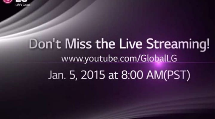 CES 2015 live LG video stream on Jan 5