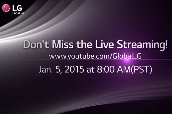 CES 2015 live LG video stream