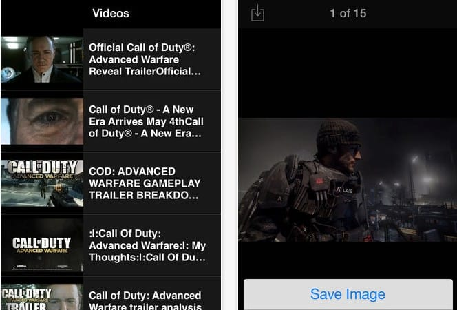 COD Advanced Warfare countdown app