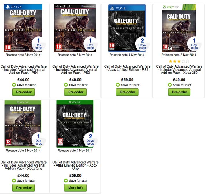 COD-Advanced-Warfare-price-at-Asda