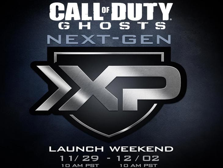 COD: Ghosts Double XP Weekend on PS4, Xbox One