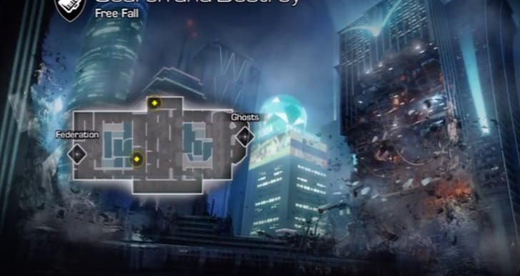 COD: Ghosts Free Fall map and trick shots
