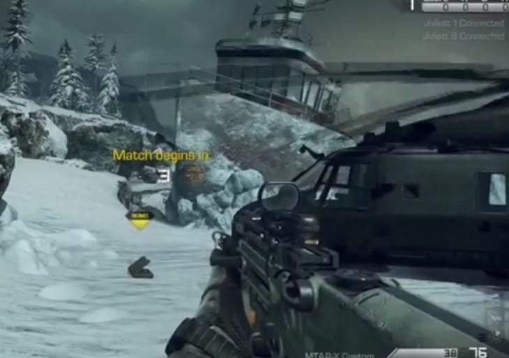 COD Ghosts guns showcased in multiplayer