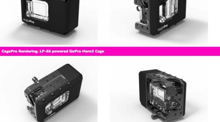 CagePro for GoPro: 5 hours of battery life in one charge
