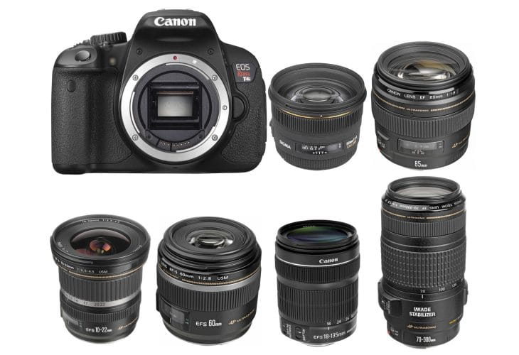 Canon 650D lenses