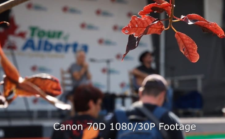 Canon 70D video footage