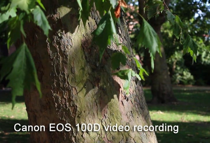 Canon EOS 100D video recording test