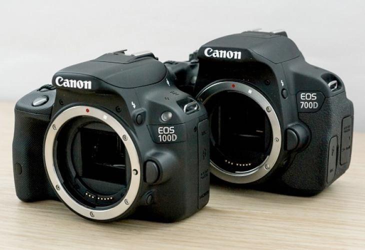canon eos 100d vs 700d features comparison product reviews net. Black Bedroom Furniture Sets. Home Design Ideas