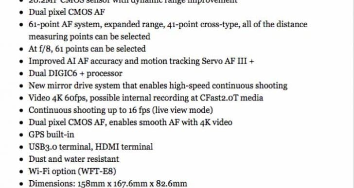 Canon EOS 1D X MK II specs not groundbreaking