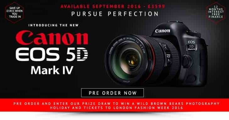 Canon EOS 5D Mark IV with Jessops II and III trade-in options