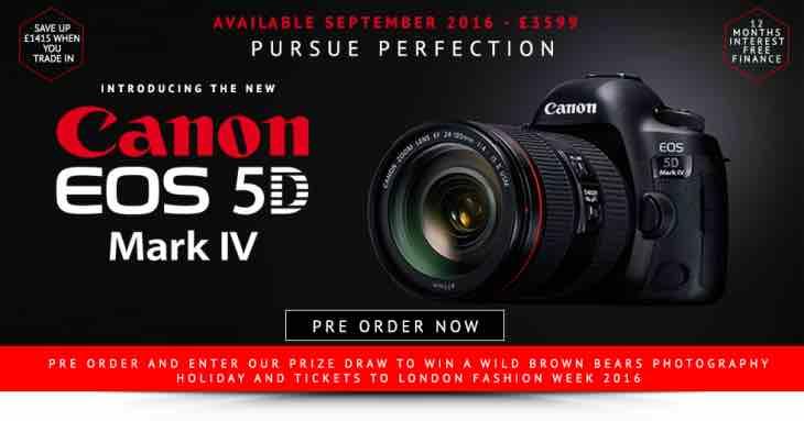 Canon EOS 5D Mark IV pre-order