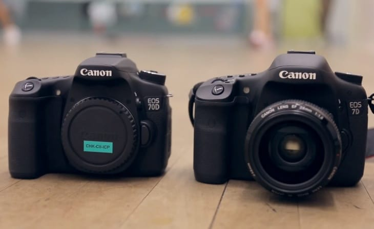 The Canon EOS 70D and the 7D in a sports test review