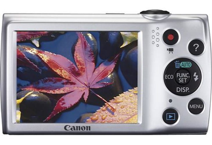 Canon PowerShot A2500 with its 2.7-inch TFT-LCD display