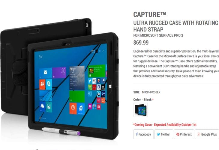 Capture Surface Pro 3 rugged Case with 4 main features