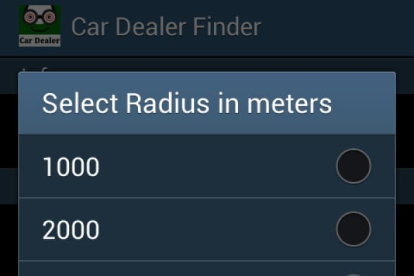 Car Dealer Finder app