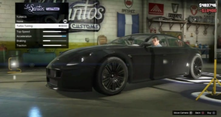 Car customization with the GTA V Exemplar