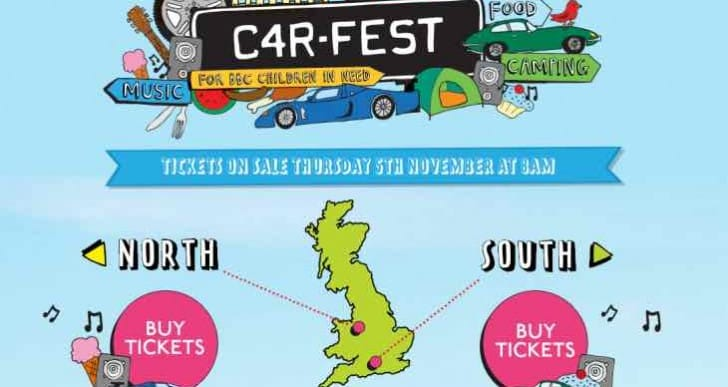 CarFest 2016 tickets for sale today, North and South