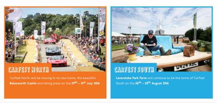 Carfest north and south tickets